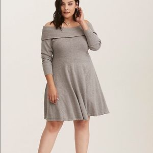Dresses & Skirts - Off the shoulder sweater dress